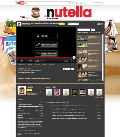 Youtube Nutella 25/10/2011