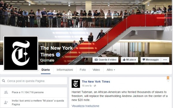 new york times-facebook